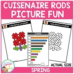 Cuisenaire Rods Picture Fun: Spring ~Digital Download~